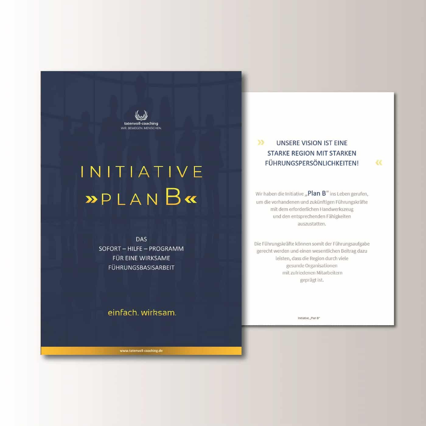 Initiative Plan B Tatenvoll - Coaching